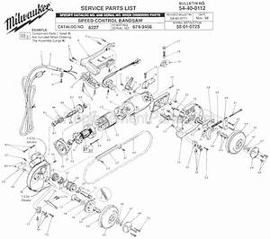 Milwaukee 6227 Parts List And Diagram
