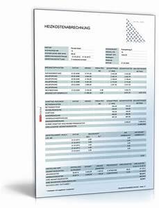 Abrechnung Mieter : heizkostenabrechnung excel tabelle zum download ~ Themetempest.com Abrechnung