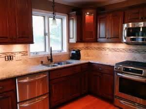 kitchen backsplash ideas for cabinets kitchen tile backsplash ideas with cherry cabinets home design ideas