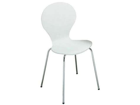 chaise de cuisine moon 2 coloris blanc vente de chaise conforama