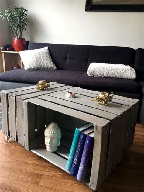 diy wooden crate coffee table ideas
