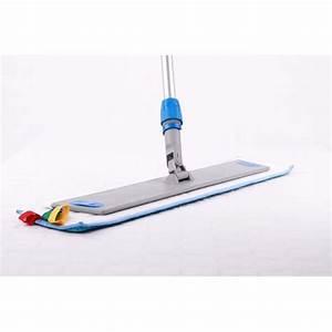 Balai Plat Microfibre : kit balai velcro de 60 cm manche support frange ~ Edinachiropracticcenter.com Idées de Décoration