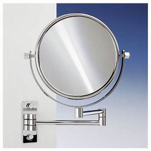 189quot extendable double face wall mounted 5x magnifying With wall mounted extendable mirror bathroom