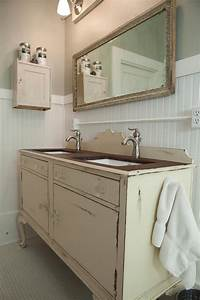 3 vintage furniture makeovers for the bathroom diy for Old dresser made into bathroom vanity