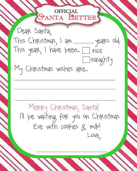 santa letter template clever hippo