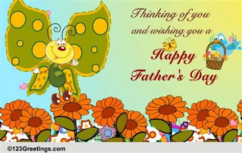 thinking    happy fathers day ecards