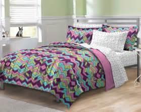 new albuquerque zigzag purple teen girls bedding comforter