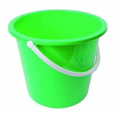 Bucket Transparent Plastic Background Clipart Gallon Round