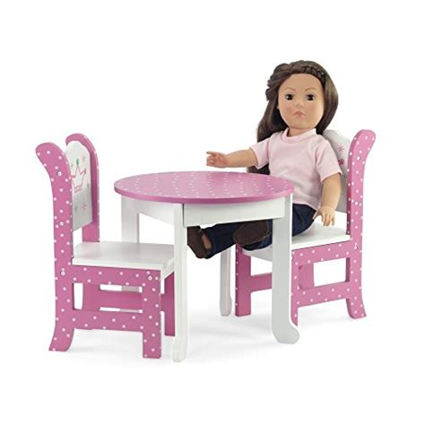 18 doll furniture table and chairs 18 inch doll furniture fits american dolls wish crown