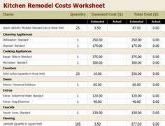 construction estimating spreadsheet  building