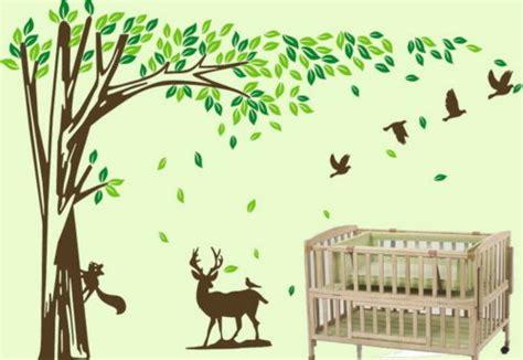 Large Squirrel Deer Bird Tree Vinyl Wall Sticker Kids