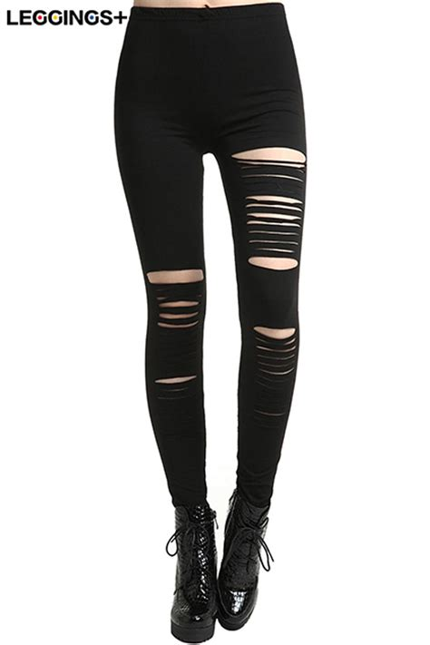 where to buy home decor for romwe distressed black slit leggingsfor romwe