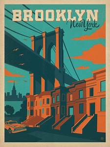 New York Poster : brooklyn bridge print vintage travel posters new york and inspiration ~ Orissabook.com Haus und Dekorationen