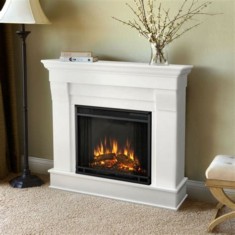 real flame white chateau electric fireplace ebay