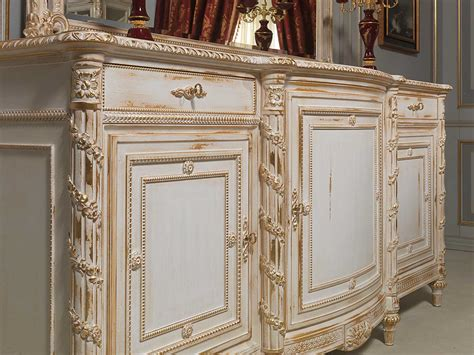 carved sideboard white  gold  louis xvi style