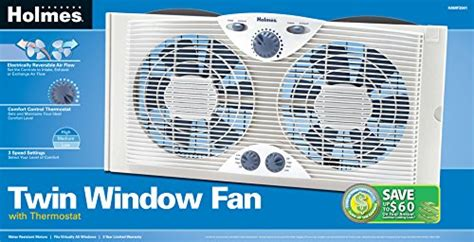 holmes twin window fan with comfort control thermostat holmes twin window fan with comfort control thermostat