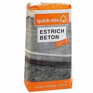 Ausgleichsmasse Quick Mix : quick mix estrichbeton 25 kg chromatarm bauhaus ~ Michelbontemps.com Haus und Dekorationen
