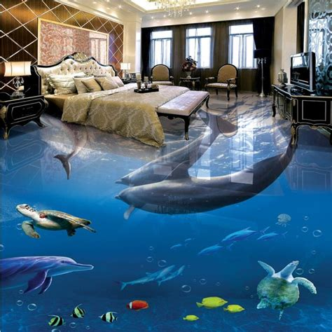 3d Epoxy Wallpapers by Beibehang 3d Pvc Floor Custom 3d Bathroom Floor Wallpaper