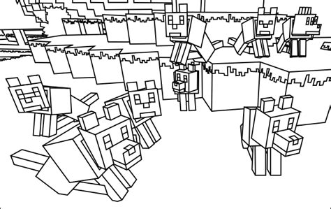 minecraft coloring pages minecraft wolf minecraft  coloring pages