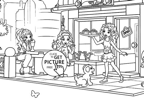 lego  girls coloring page printable  lego friends