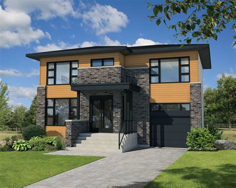 Narrow Lot Contemporary House Plan