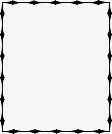 Black and White Line Borders Clip Art