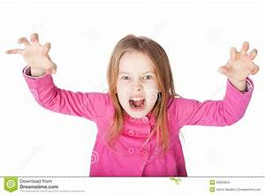 Angry Little Girl Growls Stock Images - Image: 29634624