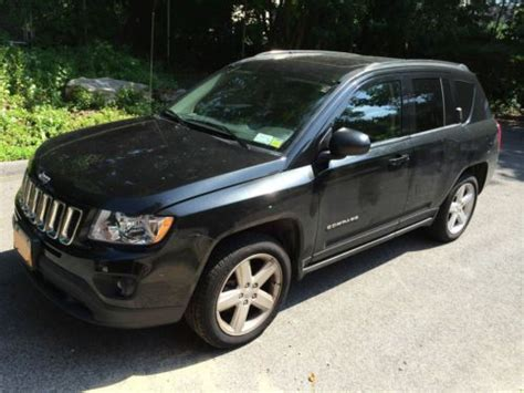 jeep compass sunroof buy used jeep compass limited black with black interior