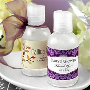 Hand sanitizer easy party favors for Hand sanitizer bridal shower favors
