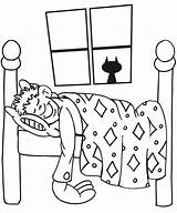 Sleeping Coloring Boy Bedroom Pages Drawing Sleep Child Sleepy Printable Kid Bear Sheets Bed Cartoon Buildings Architecture Asleep Drawings Dream sketch template