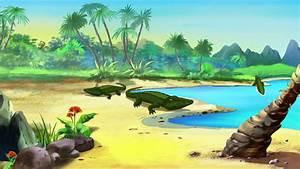 Low Polygonal Cartoon Island Stock Footage Video 7828066 ...