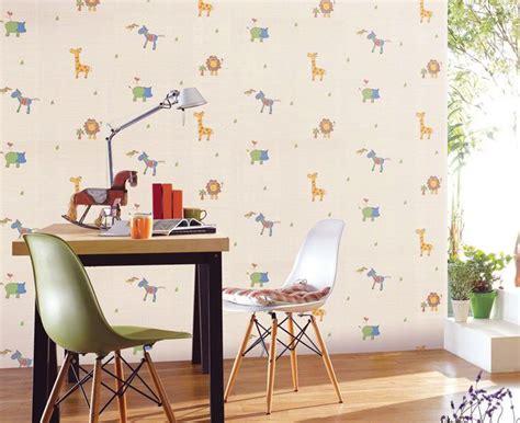 Cute Animal Wallpaper For Kids Study Room  Interior