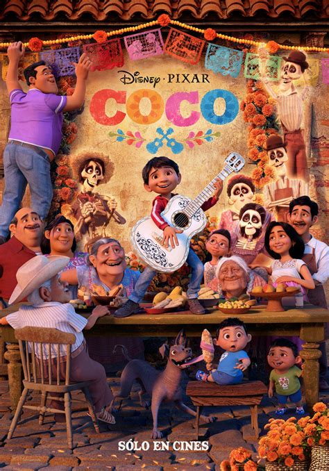 Pixar Resumen by International Coco Poster Highlights Miguel Surrounded By His Family Pixar Post