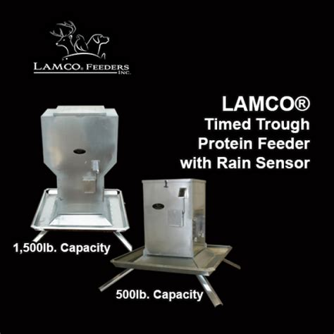timed protein feeders lamco 174 timed trough protein feeders with sensor shutdown