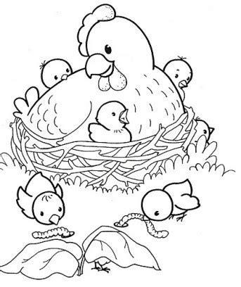 paques la poule  ses poussins