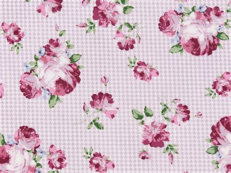 Cotton Fabric Roses Guetermann Purple Lilac Pink