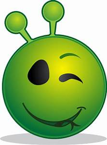 Smiley Green Alien Wink Clip Art at Clker.com - vector ...