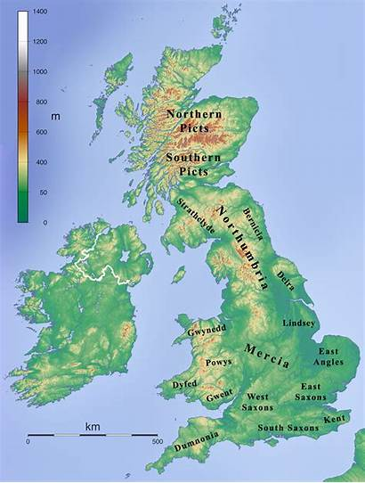 Mercia Century Kingdoms 7th British 800 England