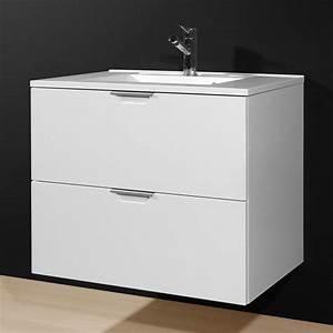 Katja Bathroom Vanity Cabinet In Gloss White 18991