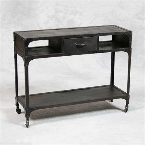 industrial metal console table industrial style metal console table modern side
