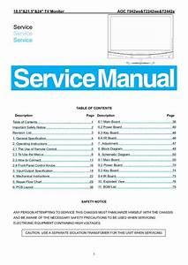 Aoc T942we  Service Manual  Repair Schematics