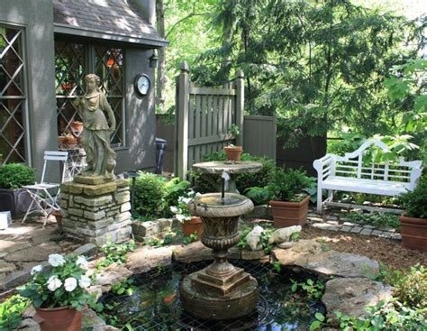 Picturesque Courtyard Garden by My Visit To A Storybook Gardener S Cottage Small