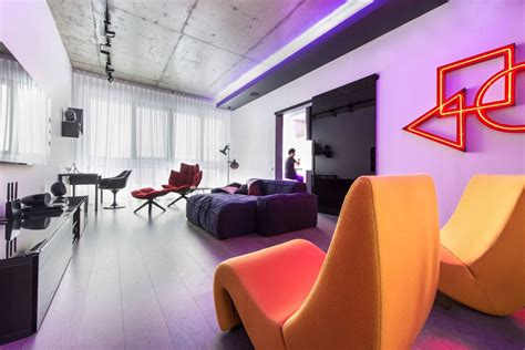 Neon Lights For Rooms by Neon Lights Add Color And Uniqueness To A Moscow Apartment