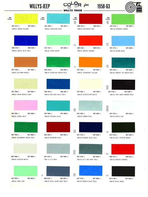 1963 color palette google search spencer trailblazer