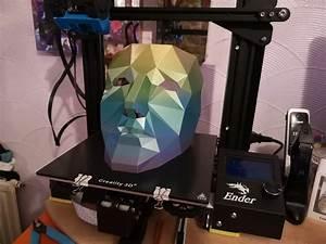 Skr Mini E3 V1 2 1st Proper Test Off The Bed   3dprinting