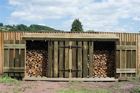large wooden log store  wood