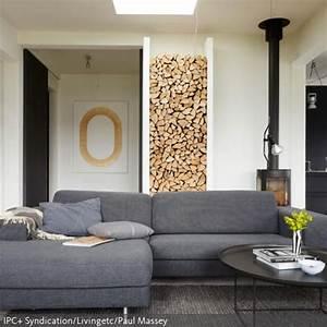 Kaminholz Stapeln Wohnzimmer : skandinavisches flair mit kamin deko ~ Michelbontemps.com Haus und Dekorationen