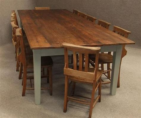 Large Rustic Pine Kitchen Table