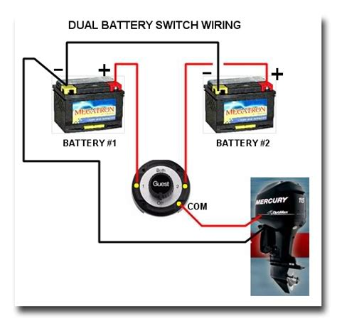 Manual Marine Battery Switch Boat Wiring Easy