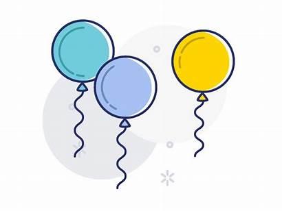 Balloons Birthday Floating Balloon Pop Dribbble Icon